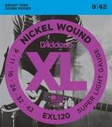 Струны D'addario EXL120 XL, никель/сталь