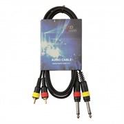 HardCord AMC-15 аудио кабель 2*Jack mono 6,3mm - 2*RCA 1,5m