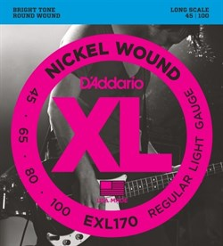 Струны для бас-гитары D'Addario EXL170