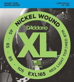 Струны для бас-гитары D'addario EXL165 - фото 17346