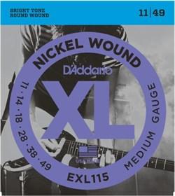 Струны для электрогитары D'ADDARIO EXL115 - фото 17360