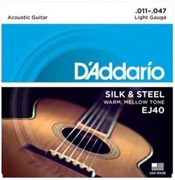 Струны металлические D'ADDARIO EJ40
