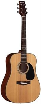Акустическая гитара с широким грифом MARTINEZ FAW-802 WN - фото 20243
