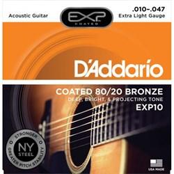 D'addario EXP10, струны с покрытием 10-47