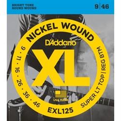 Струны D'addario EXL125, 9-46, никель/сталь