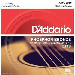 Струны для 12-струнной гитары D'ADDARIO EJ39 - фото 23160