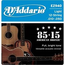 Струны для 12-струнной гитары D'ADDARIO EZ940 - фото 23163
