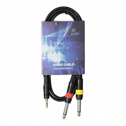 HardCord AJC-15 аудио кабель mini джек стерео-2 Jack mono 1.5m - фото 24006