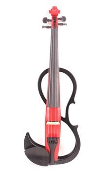 Mirra VE-420RBK Электроскрипка 4/4, красная/черная - фото 24115
