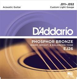 D`Addario EJ26 Струны для акустической гитары фосфорная бронза 11-52