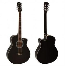 Elitaro L4010 BK акустическая гитара черная, Элитаро - фото 24250