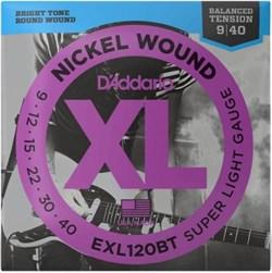 Струны для электрогитары D'ADDARIO EXL120BT