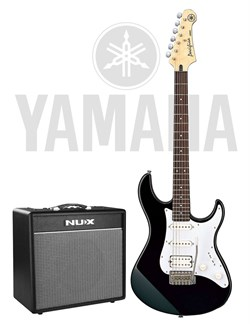 Yamaha Pacifica-012BL + NUX Mighty 40BT — комплект электрогитара и комбоусилитель 40 Вт, Ямаха