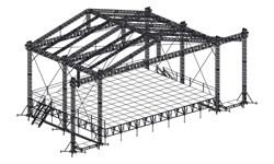Сценический комплекс с замкнутым коньком16,8 х 13,2 м, с электрической лебедкой - фото 25960