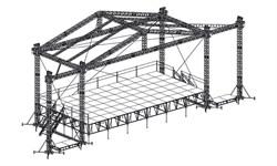 Сценический комплекс с замкнутым коньком 14,4 х 7,2 м, с электрической лебедкой и звуковыми порталами. - фото 25972