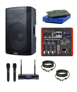 Комплект караоке для дома EVOBOX PLUS с беспроводными микрофонами