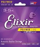 Струны металлические ELIXIR 11000