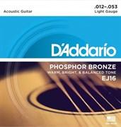 Струны металлические D'ADDARIO EJ16