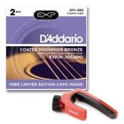 Струны металлические D'ADDARIO EXP26-2DCAPO