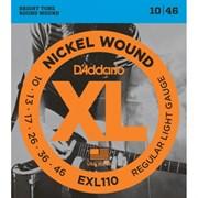 Струны D'addario EXL110, 10-46, никель/сталь