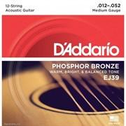 Струны для 12-струнной гитары D'ADDARIO EJ39