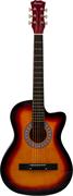 TERRIS TF-3802С SB акустическая гитара, цвет санберст