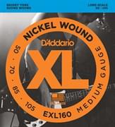 Струны для бас-гитары D'Addario EXL160