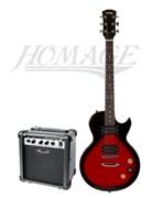 Homage HEG500RDS + Leem S10G — комплект электрогитара и комбоусилитель 10 Вт, Хомэйдж