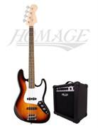Homage HEB760SB + Leem S15B — комплект бас-гитара и комбоусилитель 15 Вт, Хомэйдж