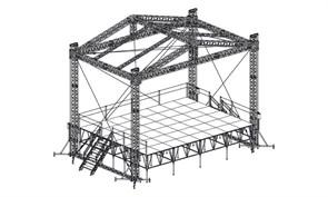 Сценический комплекс с замкнутым коньком 9,6 х 7,2 м