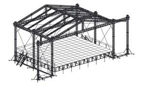 Сценический комплекс с замкнутым коньком16,8 х 13,2 м, с электрической лебедкой