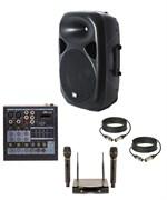 Комплект караоке с беспроводными микрофонами