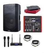 Комплект караоке для дома EVOBOX с беспроводными микрофонами