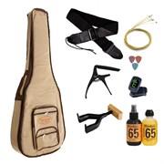 Комплект гитарный №4: чехол, струны, тюнер, ремень, каподастр, медиаторы, средства по уходу