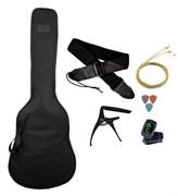 Комплект гитарный №3: чехол, струны, тюнер, ремень, каподастр, медиаторы